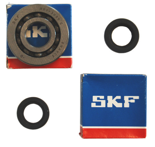 Krukas lager + keerring set Piaggio 2-takt Cif / Skf