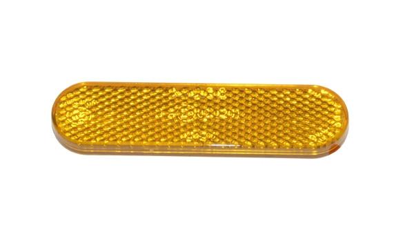 Plak reflector zijscherm Oranje  Piaggio / Universeel