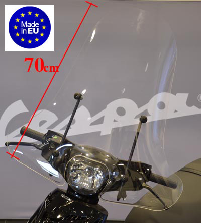 windscherm hoog + bevestiging helder Piaggio Zip