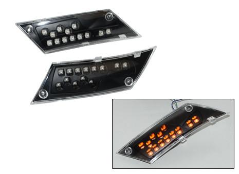 Knipperlichtset led Piaggio Zip zwart/ helder achter DMP