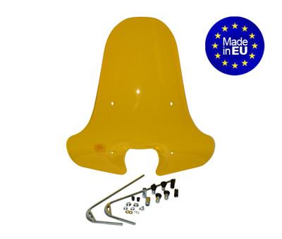 Windscherm hoog + bevestigings set Piaggio Zip 71cm geel