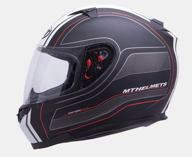 Helm Blade SV Raceline mat zwart/ rood. Diverse maten.