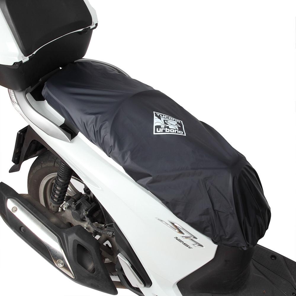 Buddyseat of zadelhoes, tegen regen en vuil. Universeel voor iedere scooter. Tucano Urbano.