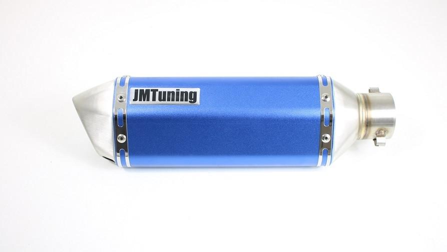 JM Tuning RVS Uitlaatdemper Piaggio, Vespa 4-takt 2v, 4v en 3v Iget scooters