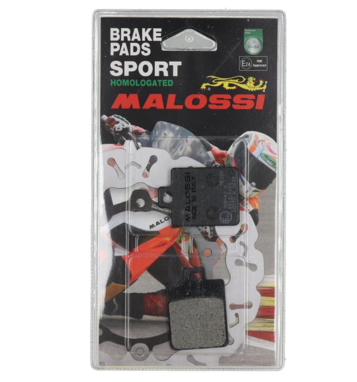 Malossi remblokken set passend op de meeste Piaggio en Vespa modellen. 6215049 & 6215008BB