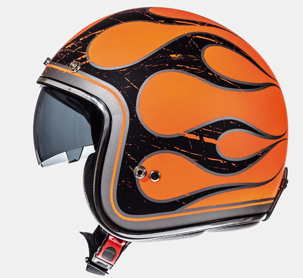Helm MT Le Mans SV Flaming. Diverse Maten.