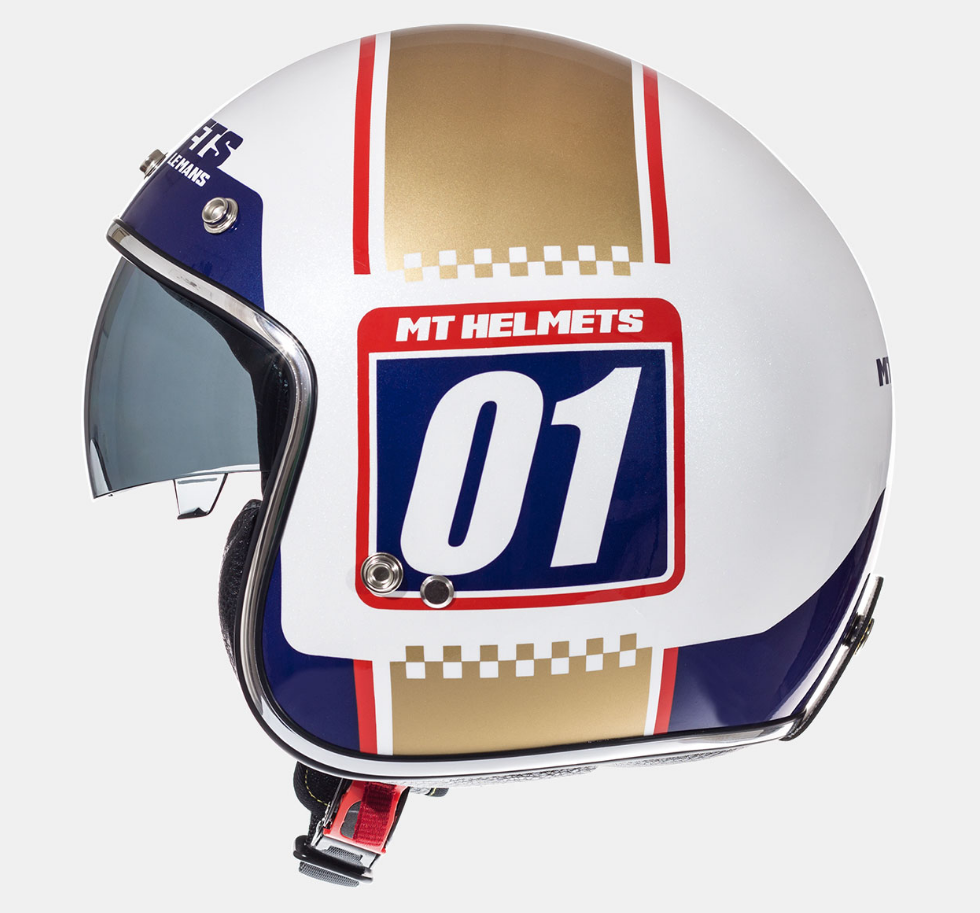 Helm MT Le Mans SV Numberplate Wit. Diverse Maten.