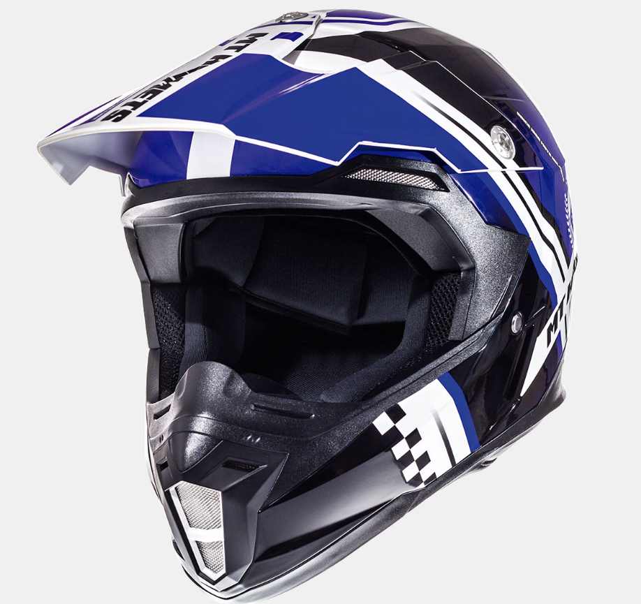 Helm MT Synchrony Endurance Zwart/Blauw. Diverse maten.