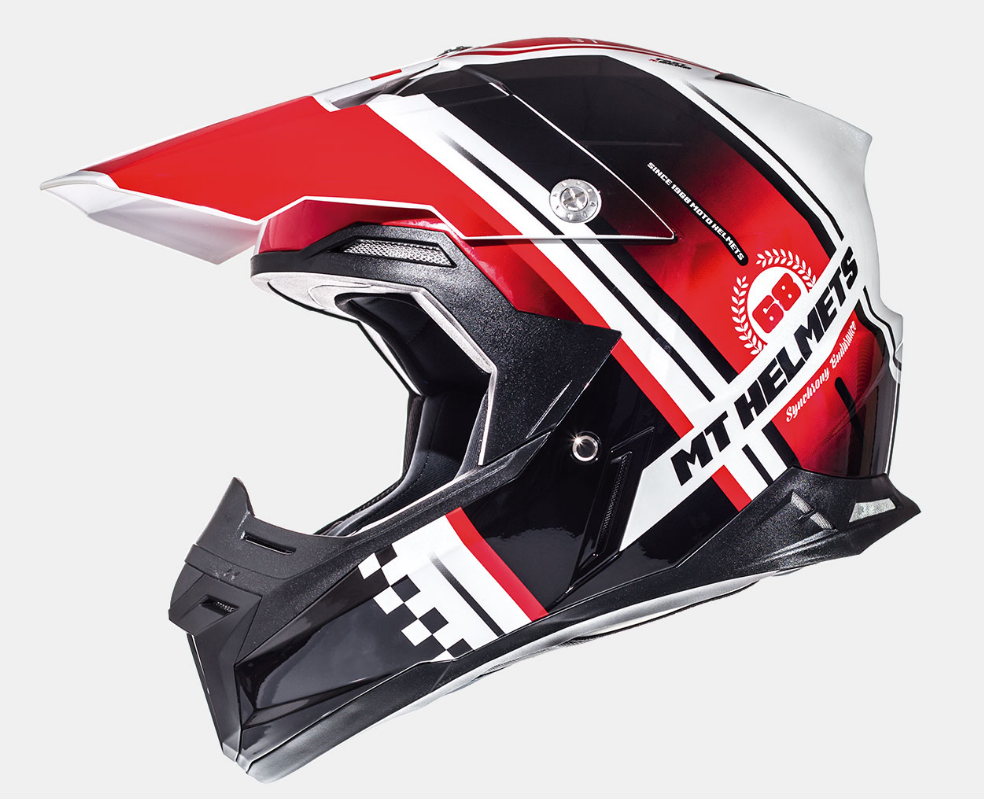 Helm MT Synchrony Endurance Zwart/Rood. Diverse maten.