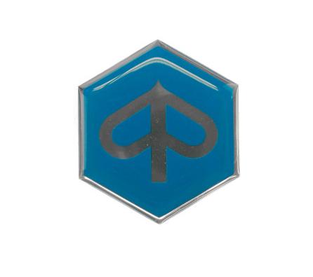 Plaklogo voorscherm Piaggio Zip / Fly blauw