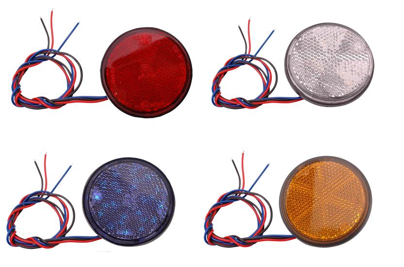 Reflector 60mm rond met LED in 4 kleuren verkrijgbaar Piaggio | Vespa