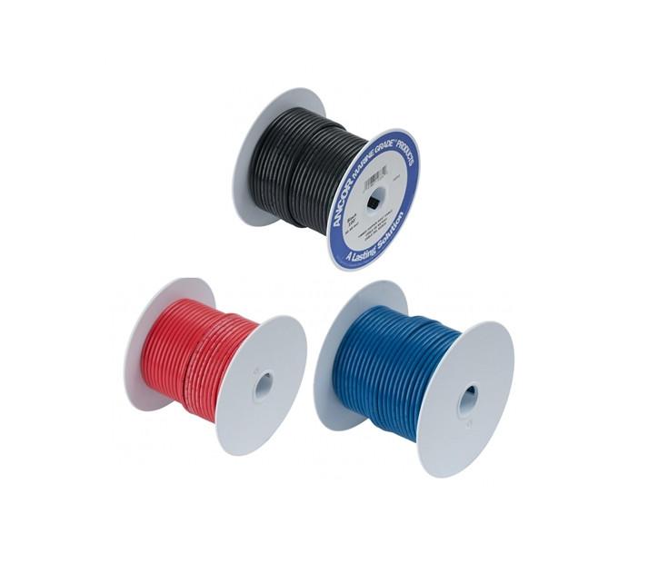 Elektra draad per meter diverse kleuren.