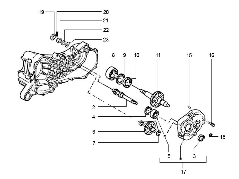 Kartelring Piaggio / Vespa Primaire as 5mm ( koppeling ).