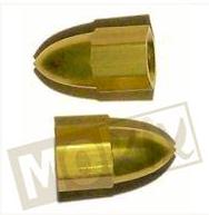 Ventieldop set aluminium punt goud