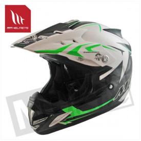 Helm kids steel zwart/groen
