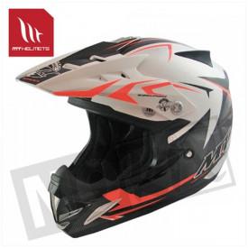 Helm kids steel zwart/oranje