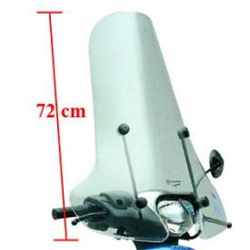 Windscherm hoog + bevestigings set helder, Piaggio Zip 72cm