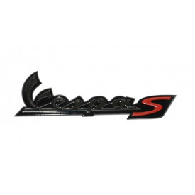 Sticker / Logo Vespa S zijscherm Smoke.