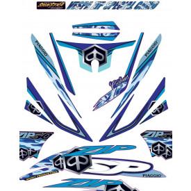 Piaggio ZIP SP Stickerset Custom (GROOT) Diversen kleuren
