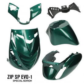 Piaggio ZIP SP Evo-1 Special edition kappenset. Jaguar green