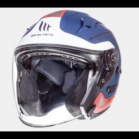 Helm MT Crossroad Blauw/Rood. Diverse Maten.