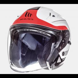 Helm MT Crossroad Wit/Rood. Diverse maten.