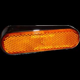 Reflector en houder Vespa S rechts zwart origineel Piaggio 643433
