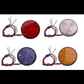 Reflector 60mm rond met LED in 4 kleuren verkrijgbaar