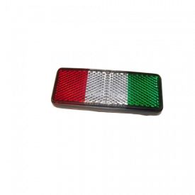 Plak reflector Italiaanse kleuren Piaggio / vespa