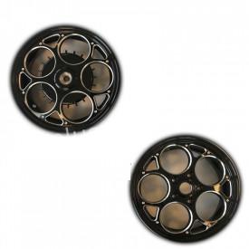 Velgenset Custom Vespa Sprint + Primavera zwart + zilver.