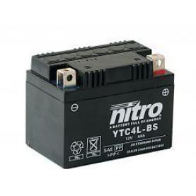 Gel accu 12 volt 4AH. NTC4L-BS | YTC4L-BS Gel 4 Ampère Nitro