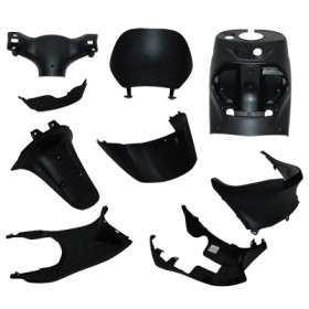 Binnenbeplating | Kappenset zwart Piaggio Zip 9-delig