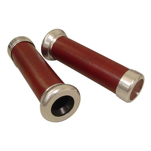 Handvat set DMP classic leder look, diverse kleuren.