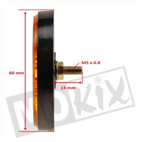 Reflector zijkant rond oranje 60mm M5 bout Piaggio | Vespa