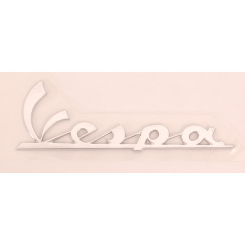 Sticker / Logo Vespa voorscherm. CHROOM.