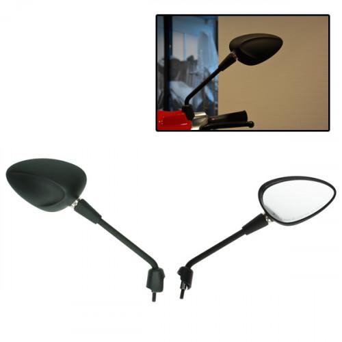 Spiegelset lang model Vespa Sprint mat zwart