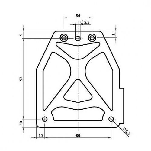 Kentekenplaat houder metaal staand of liggend zijkantbevestiging. Lampa