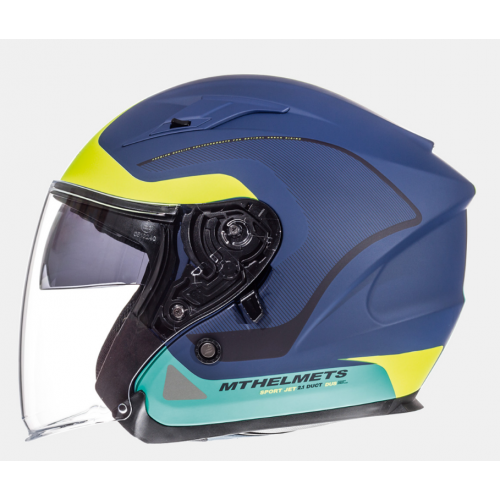 Helm MT Crossroad Blauw/Groen. Diverse Maten.