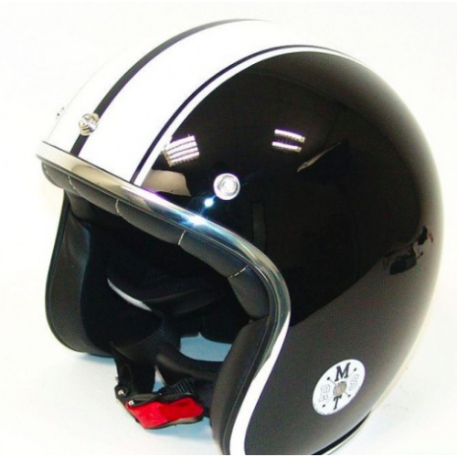 Helm MT Le Mans Speed Zwart/Wit. Diverse Maten.