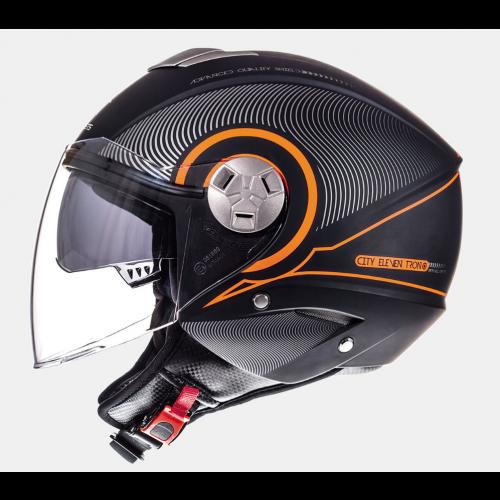 Helm MT Tron Zwart/Oranje. Diverse maten.