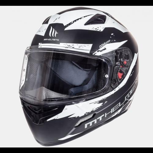 Helm MT Vapor Zwart/wit. Diverse maten.