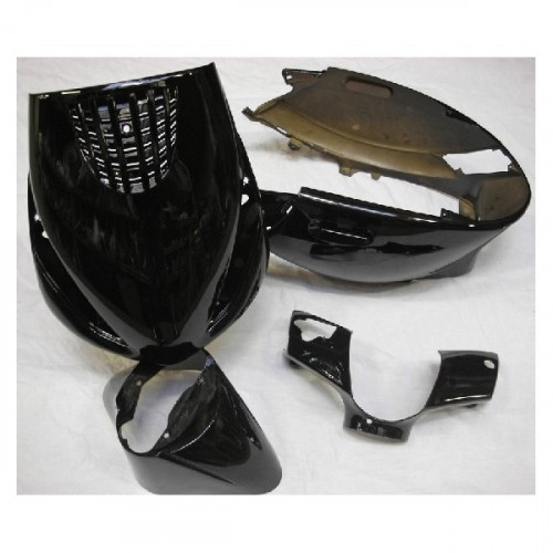 Kappenset Piaggio Zip zwart glans