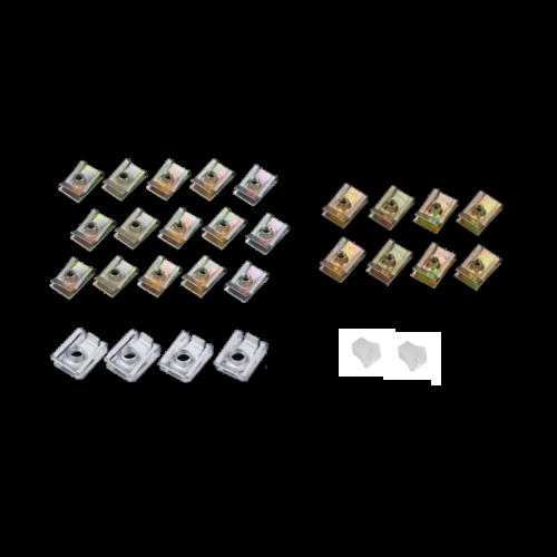 Speednut set voor een beplating kappenset Piaggio ZIP