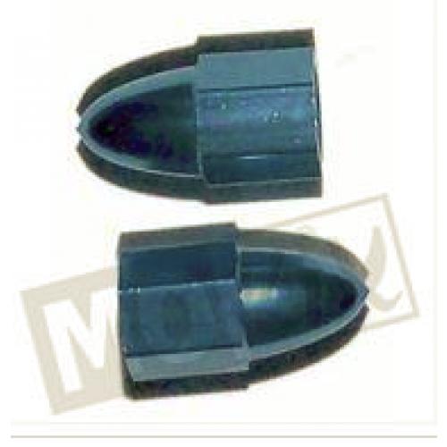 Ventieldop set aluminium punt blauw