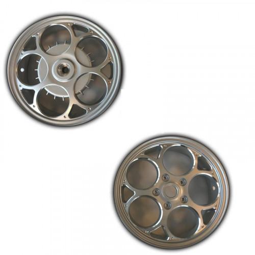 Velgenset Custom Vespa Sprint + Primavera zilver